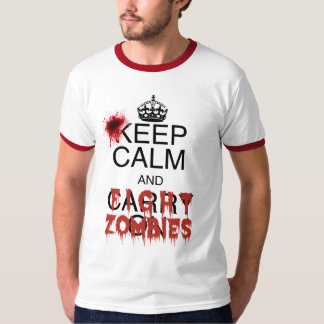 Keep Calm and Fight Zombies T-Shirt