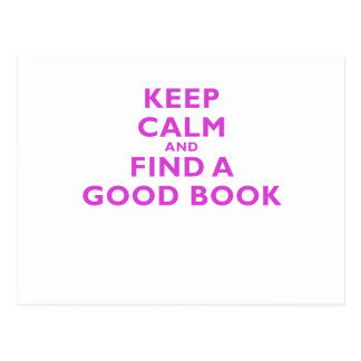 Keep Calm and Find a Good Book Postcards