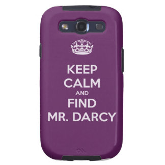 Keep Calm and Find Mr. Darcy Jane Austen Samsung Galaxy S3 Covers