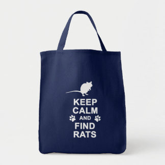 Keep Calm and Find Rats Grocery Tote Bag