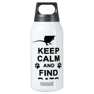 Keep Calm and Find Rats Insulated Water Bottle