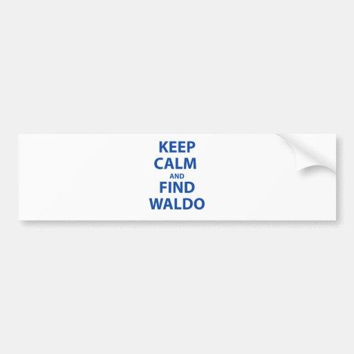 Keep Calm and Find Waldo Bumper Stickers