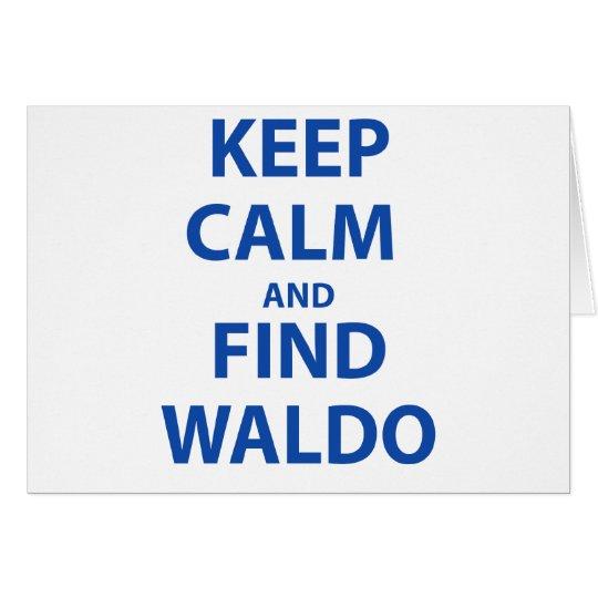 Keep Calm and Find Waldo Card