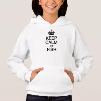 KEEP CALM AND FISH HOODIE