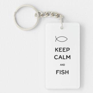 Keep Calm and Fish Keychain