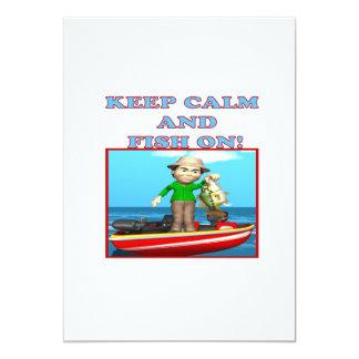 Keep Calm And Fish On Card