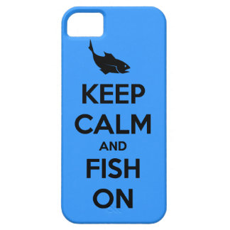 keep calm and fish on iPhone SE/5/5s case