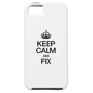 KEEP CALM AND FIX iPhone SE/5/5s CASE