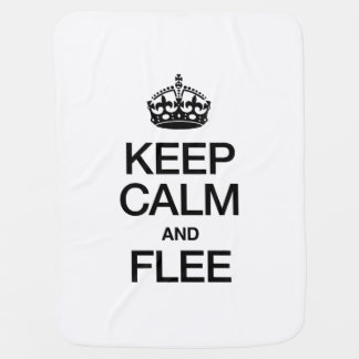 KEEP CALM AND FLEE BABY BLANKETS