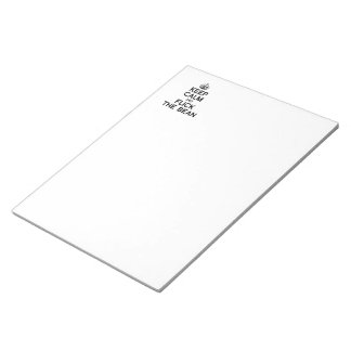 KEEP CALM AND FLICK THE BEAN -.png Memo Notepads