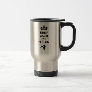 Keep Calm and Flip 15 Oz Stainless Steel Travel Mug