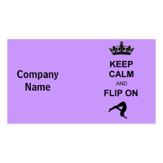 Keep Calm and Flip on Double-Sided Standard Business Cards (Pack Of 100)
