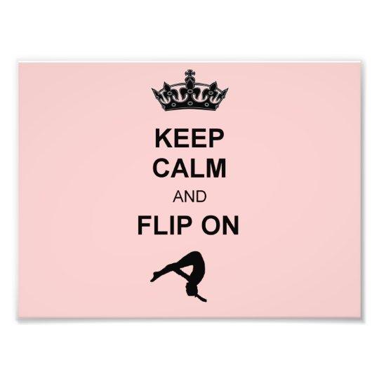 Keep Calm and Flip on Photo Print