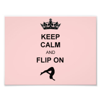 Keep Calm and Flip on Art Photo