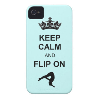 Keep Calm and Flip on Tumbling Case-Mate iPhone 4 Case