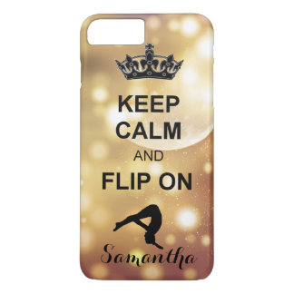 Keep Calm and Flip on Tumbling iphone 7 plus case