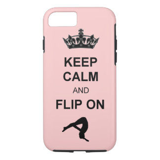 Keep Calm and Flip on Tumbling iPhone 8/7 Case