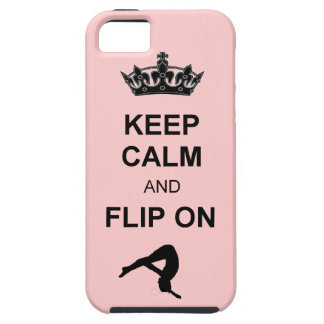 Keep Calm and Flip on Tumbling iPhone SE/5/5s Case