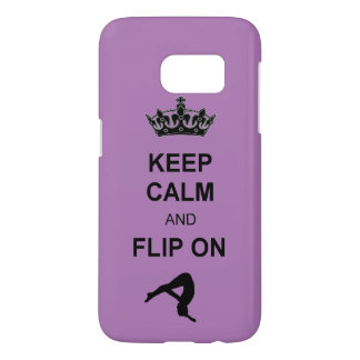 Keep Calm and Flip on Tumbling Samsung S7 Case