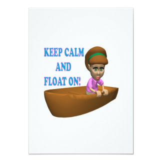 """Keep Calm And Float On 2 5"""" X 7"""" Invitation Card"""