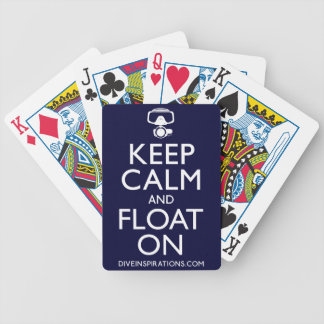 Keep Calm and Float On Bicycle Playing Cards