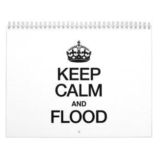 KEEP CALM AND FLOOD CALENDAR
