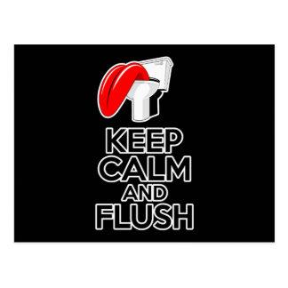 Keep Calm and Flush Postcard