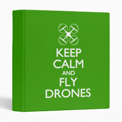Avery Signature 1' Binder with Keep Calm and Fly Drones design