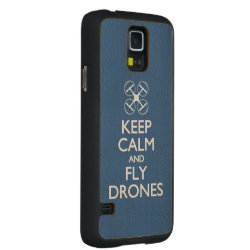 Carved ® Samsung Galaxy S5 Slim Wood Case with Keep Calm and Fly Drones design
