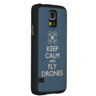 Keep Calm and Fly Drones Carved Maple Galaxy S5 Case