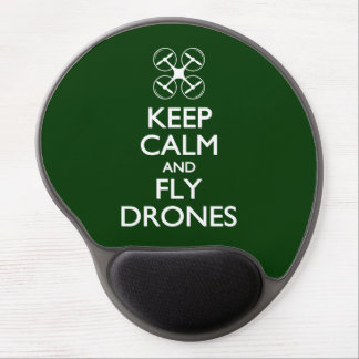 Keep Calm and Fly Drones Gel Mouse Pad