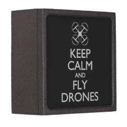 Medium (3' X 3') Gift Box with Keep Calm and Fly Drones design