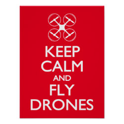 Matte Poster with Keep Calm and Fly Drones design