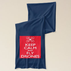 Jersey Scarf with Keep Calm and Fly Drones design