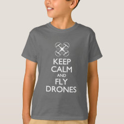 Kids' Hanes TAGLESS® T-Shirt with Keep Calm and Fly Drones design