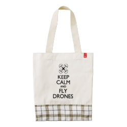 LIFE Line Tote Bag with Keep Calm and Fly Drones design