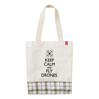 Keep Calm and Fly Drones Zazzle HEART Tote Bag