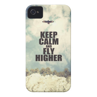 Keep Calm and Fly Higher iPhone 4 Case-Mate Cases