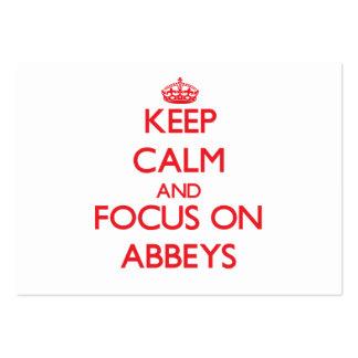 Keep calm and focus on ABBEYS Business Cards