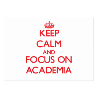 Keep calm and focus on ACADEMIA Large Business Cards (Pack Of 100)