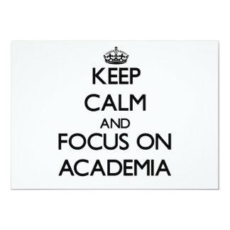 Keep Calm And Focus On Academia Announcements