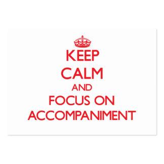 Keep calm and focus on ACCOMPANIMENT Business Cards