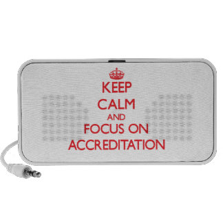 Keep calm and focus on ACCREDITATION Travel Speaker