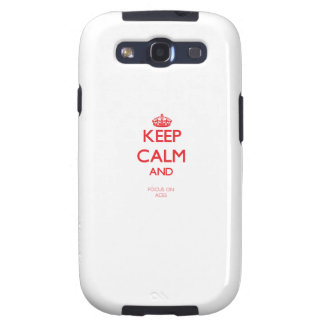 Keep calm and focus on ACES Samsung Galaxy S3 Covers