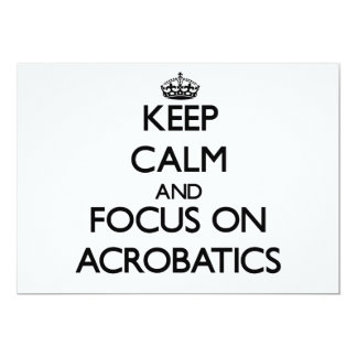Keep Calm And Focus On Acrobatics Announcements
