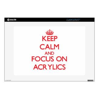 Keep calm and focus on ACRYLICS Laptop Decal