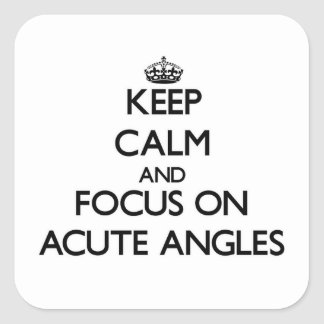Keep Calm And Focus On Acute Angles Square Sticker