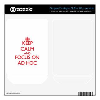 Keep calm and focus on AD HOC FreeAgent GoFlex Skins