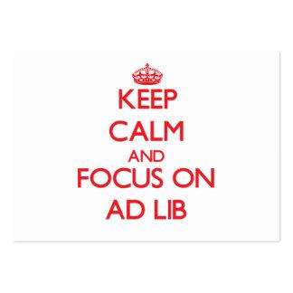 Keep calm and focus on AD LIB Business Card Templates