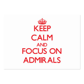 Keep calm and focus on ADMIRALS Business Card
